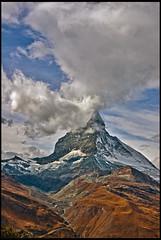The Matterhorn , the Symbol of Switzerland. No. 6083. (Izakigur) Tags: alps liberty schweiz switzerland flickr suisse suiza swiss feel zermatt matterhorn d200 svizzera ch dieschweiz cervin musictomyeyes sussa suizo cervino myswitzerland lasuisse nikond200 izakigur suisia laventuresuisse
