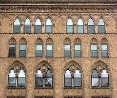 Arches, Broadway at E. 11th Street, Manhattan, NYC (Hunky Punk) Tags: dwwg gothic gothicrevival urban nyc ny newyork city neogothic window windows greenwichvillage manhattan