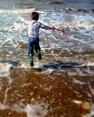 (hannahwoodward) Tags: beach childhood bucket sand sandcastles spade