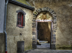 (Paul B0udreau) Tags: burgeltz castle germany doorway crest stairs window