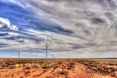 Desert Lines Australia (Hannah Nicholas Photography) Tags: sky clouds power desert australia powerlines electricity australianlandscape centralaustralia landscapephotography aridlandscape hannahnicholas hannahnicholasphotography