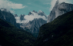 #98 dolomites (fattanal) Tags: trees wild sky italy mountains green nature clouds forest landscape high woods rocks mount hd trentino dolomiti claudy molveno