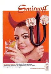 1968 Smirnoff Martini ad (Tom Simpson) Tags: woman sexy ice vintage ads advertising ad hell lips advertisement devil vodka 1960s 1968 pitchfork smirnoff succubus vintagead vintageads