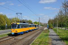 LVB 2101 + 21xx + 9xx, Leipzig Stuttgarter Allee, 02-05-2016 (Michael Postma) Tags: tram leipzig tatra allee lvb leipziger verkehrsbetriebe stuttgarter strasenbahn nb4 t4dm