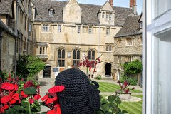 St Edmund Hall chough (St Edmund Hall) Tags: crochet chough stedmundhall
