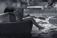 (Bogdan.M.Bilan) Tags: bw black white dark mood mono monochrome silhouette light backlight baby face blackandwhite background smile water