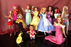 The Disney Heroines (Richard Zimmons) Tags: 6 big doll stitch jane alice barbie atlantis peter hero lil giselle pan wendy wonderland gazelle tarzan hercules enchanted kida esmeralda megara zootopia
