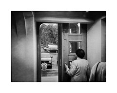 Usherette (Jan Dobrovsky) Tags: people bw monochrome contrast theatre grain ukraine document premiere drama kiev havel iphone hipstamatic