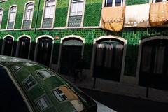 portuguese character (*F~) Tags: street light people urban verde green portugal shadows lisboa rua walkers azulejos ruadosculo