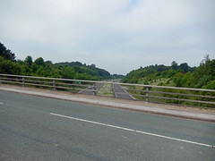 Eaton Road and the A55, 2016 Jun 08 (Dunnock_D) Tags: road uk trees england sky cloud tree grey cloudy unitedkingdom britain expressway a55 northwalesexpressway