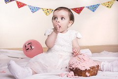 Cake Smash (Kelly Daniels 777) Tags: birthday party baby cake photoshoot sweet flash happybirthday firstbirthday celebrate 1stbirthday cakesmash studiolights studioflash childrenphotography cakesmashphotography