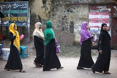 Well, hello ladies ! (N A Y E E M) Tags: women burqa hijab niqab candid street afternoon winter polytechnicroad chittagong bangladesh windshield