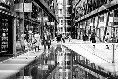 So Happy Together (Sean Batten) Tags: street city windows england people urban blackandwhite bw reflection london glass 35mm nikon df unitedkingdom streetphotography gb shops onenewchange