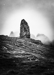 Eerie rock light (barraclough_m) Tags: skye nature scotland blackwhite geology