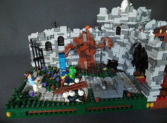 LEGO Monster Museum First Scene (fuggoo) Tags: lego bear project monster museum frankenstein ghost ghosts photography minifigure minifigures castle scary spooky horror tower dracula