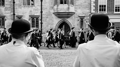 Cambridge Graduation 1/11 (Sir Cam) Tags: street cambridge blackandwhite students trinitycollege graduation streetphotography bowlerhat gown cambridgeuniversity magdalenecollege trinitystreet graduands universityofcambridge sircam camdiary