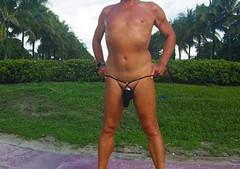 black baggie strap cp (bmicro2000) Tags: man male beach public thong tiny gstring bungee baggie minimalswimwear microkini microbeachwear