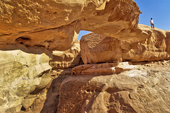 Wadi Rum Big Arch (kevinwenning) Tags: cliff mountains arch desert plateau wadirum petra tourist jordan formation geology wenning bigarch kevinwenning intentionallylostcom