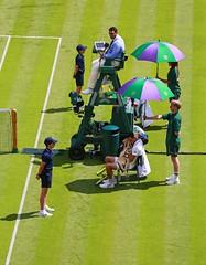 Refreshment Break (Kevin Hughes 348) Tags: grass sport umbrella tennis wimbledon tenniscourt umpire ballboys allenglandlawntennisclub novakdjokovic jamesward wimbledon2016