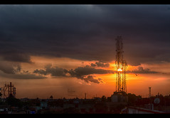 Sunset (Anurag Basu Photography) Tags: sunset silhouette clouds dusk