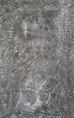 B^a (luttylux) Tags: art watercolor monoprint noir aquarelle yeux direction charcoal crayon gouache blanc peau