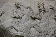 Riding Horses (pjpink) Tags: uk england sculpture london art museum spring ancient britain may parthenon bloomsbury marble britishmuseum elginmarbles antiquities 2016 pjpink