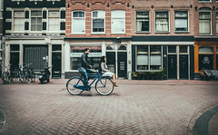 Wheelbarrow (Rolling Spoke) Tags: road street girl amsterdam bike bicycle lumix open ride path candid streetphotography bicicleta together cycle bici minimalism minimalist velo carry pedal jordaan fiets bisiklet gx1 vsco pedalmode
