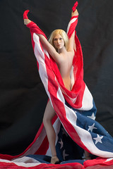 Phicen Phourth of July (edwicks_toybox) Tags: flag americanflag blonde july4th verycool 16scale femaleactionfigure femaleshooter phicen seamlessbody