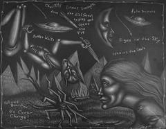Chastity Misbehaves (Tom McKee / Art Guy) Tags: art pencil ink dark drawing surrealism surreal narrative lowbrow visionary prisma visionaryart apocalypic narrativeart artvisionary