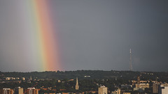 Crystal Palace Rainbow ends (millerartwork) Tags: london rain weather rainbow crystal palace mast potofgold mu9a3166lnd