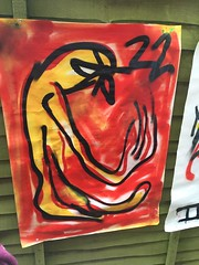 No Luck (Krillinator) Tags: street uk red summer sun white black colour detail art nature face lines yellow illustration composition self work fence garden painting paper outside layout graffiti student paint artist different hand bright personal drawing expression contemporary background creative free vivid surreal style images spray illustrative line marks size illustrator draw outlines simple produced bold foreground individual 2016
