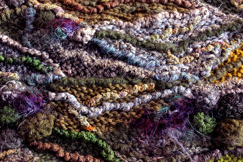 crochet crab stitch for texture