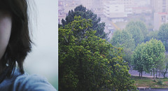 Cropped life (Joana Cardoso | Photography) Tags: new city light two sky colour tree nature girl weather fog start canon project hair eos 50mm grey spring diptych cheek natural skin ground pale fabric shoulder freshstart 550d joanacardoso eos550d joanacardosophotography 705project