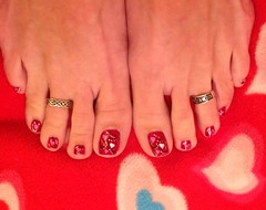 February 2013 Hearts Toes (martha.harmon) Tags: feet hearts foot toes toe heart valentine pedicure toering valentinesday nailart toenail naildesign