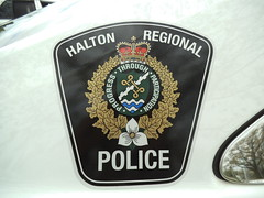 Halton Regional Police crest (car show buff1) Tags: rescue ontario canada ford logo chief tahoe police victoria crest chevy dodge crown ladder squad incident ems charger pursuit commander caprice pumper ppv battalion halton f250