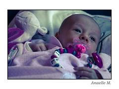 Ilnia (PhotographyNanou) Tags: portrait baby rose robe couleurs ange maman enfant fille bb regard douceur heureux intimity insouciance