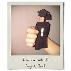 Thumbs Up! (OfficialPolaroid) Tags: polaroid graduation card instant congratulations grad congrats congradulations