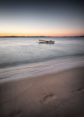 Beautiful moments (Colin_Bates) Tags: port bay coast boat sand long exposure footprints nsw stephens shoal nd110