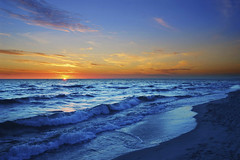 Sunset on the beach (Elite Cruiser') Tags: ocean travel blue sunset sea vacation sky sun storm abstract color reflection tourism beach nature water pool beautiful sunshine stone clouds sunrise dark season relax landscape gold dawn golden bay coast daylight twilight sand scenery rocks waves purple horizon shoreline peaceful tranquility calm resort foam tropical cape romantic tropic coastline