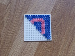 hellocatfood - O (hellocatfood) Tags: animation alphabet hamabeads hellocatfood