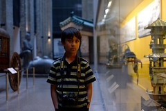 Nico (Ian Muttoo) Tags: boy portrait toronto ontario canada reflection museum reflections photographer child gimp nico rom royalontariomuseum ufraw dsc24691edit