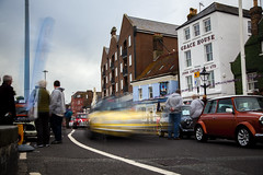 mini blur 53 (Mark Rigler UK) Tags: england motion blur car mini quay dorset hoy portsmouth poole