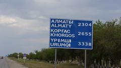 Kasachische Straßenschilder