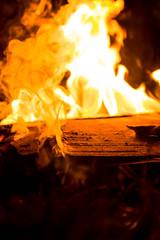 Burning Wood (mica___ela) Tags: wood fire madera fireplace smoke flames hell burn fogata quemar fogon