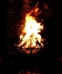 Flaming brazier (Photo by Jim Scott)