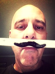 Day 220 of 365 - The Measure of a 'Stache (sluggoman) Tags: selfportrait coffee starbucks coffeemug mustache measure ruler spc 365days 365daysproject uploaded:by=flickrmobile flickriosapp:filter=mammoth mammothfilter