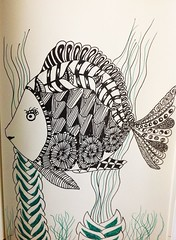 Zentangle fish (anviss) Tags: fish animal sketch drawing vis dier uniball tekening zentangle