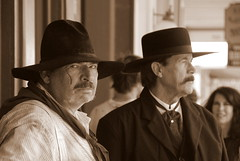 (ONE/MILLION) Tags: old travel costumes vacation arizona people house cowboys buildings court flickr photos fb events watch tombstone hats visit historic wear western law enforcement badges tours cowgirls saloon tombs facebook onemillion williestark