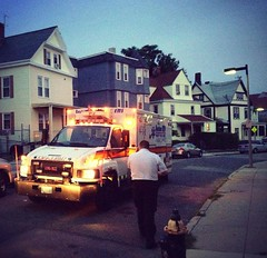 Night Shift Medics from P2 doing calls as the sun comes up over Roxbury. (Boston EMS Relief Association) Tags: