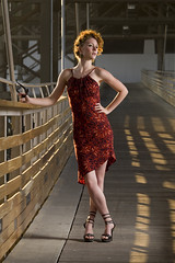 Fashionably Chic (captain.magnificent) Tags: woman girl beautiful wisconsin shoot photoshoot sam redhead solo milwaukee second sirena marsupialbridge humboldtbridge
